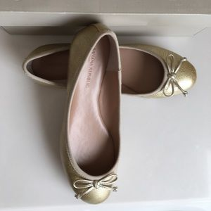 Banana republic  dusty gold Ashley ballerina flats